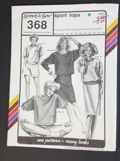 Stretch & Sew sewing pattern 368 Sport Tops by CasssOddsandEnds