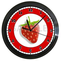 Strawberry Kitchen Wall Clock $14.99 etsy.com