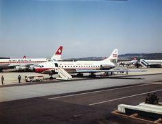 Flughafen Zürich-Kloten, Caravelle TAP. LBS_L1-672425 Image Archive, Switzerland, Planes, Photos, Airplanes, Plane, Cake Smash Pictures