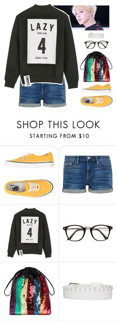 """""""I was lonely too"""" by www-som ❤ liked on Polyvore featuring Vans, Frame, Studio Concrete, Attico, Ribeyron, love, DNA and bts"""
