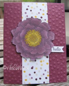 Sunday Stamps / Hollybeary Creations / Stampin' Up!  / Blendabilities / Blended Bloom