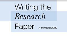 الشامل التعليمي: Writing the Research Paper: A Handbook Research Paper, Book Design, Writing, Reading, Books, Libros, Book, Reading Books, Book Illustrations