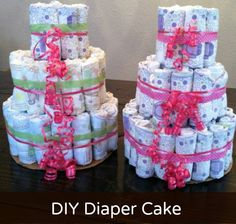 Discovery Street: #DIY Diaper Cake #babyshower ideas