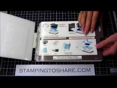 Stampin Up! Woodgrain Embossing Folder Tip - YouTube video. How to prevent it cracking your cardstock.