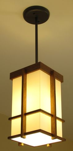 Items similar to Prairie Style Pendant 2 on Etsy Living Room Lighting, Home Lighting, Craftsman Interior, Ceiling Light Design, Woodworking Inspiration, Wooden Lamp, Woodworking Furniture, Cool Furniture, Light Fixtures