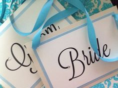 Set of Mr. & Mrs. Hanging Chair Signs Bride by EverlastingMoment  $14 + Shipping