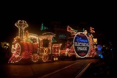Disneys Main Street Electrical Parade.  This is the parade I remember when my family went to Disney in 1973.
