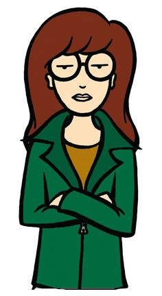 Daria Morgendorffer - the cartoon version of me in high school.