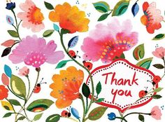 Let the exuberant floral art of Kim Parker accompany your words of appreciation. There's nothing like a handwritten thank you card, especially when they're as lovely as our Kim Parker Floral Embellished Thank You Cards, decorated with a subtle touch of gl Thank You Images, Thank You Quotes, Thank You Messages Gratitude, Thank You Cards, Birthday Greetings, Birthday Wishes, Happy Birthday, Welcome Quotes, Words Of Appreciation