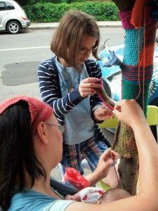Yarn bombing new haven