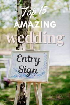 Check out these Top 15 Amazing Wedding Entry Sign Ideas. From wooden rustic welcome signs, creative elegant acrylic signs, chick chalkboard wedding signs, DIY inspirations, printed personalized and stunning mirror signs for every wedding decoration style for reception entrance, every theme, or any budget. Outdoor Wedding Signs, Wedding Reception Signs, Wooden Wedding Signs, Chalkboard Wedding, Reception Entrance, Wedding Entrance, Engagement Party Signs, Wedding Posters, Welcome To Our Wedding