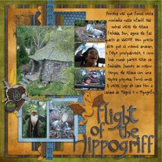 hippogriffs ~ AD❤RE this scrapbook page!!