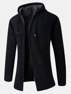 Mens Fashion Sweaters, Sweater Fashion, Hoodie Sweatshirts, Sweater Coats, Sweater Hoodie, Pullover Mode, Cheap Mens Fashion, Men's Fashion, Moda Casual