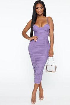 Ready And Ruched Mesh Midi Dress - Blue, Dresses | Fashion Nova Rompers Women, Jumpsuits For Women, Blue Midi Dress, Dress Black, Cute Fashion, High Fashion, Dresses Online, Sweaters For Women, Bodycon Dress