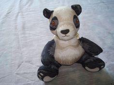"Burger King ENDANGERED PANDA BEAR 4"" Stuffed Animal Surface Washable (Item: 264)"