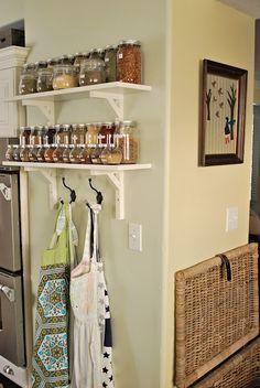 Spice & apron organizing