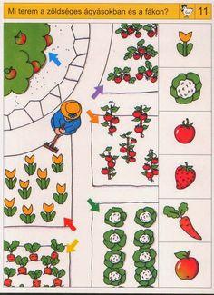 Preschool Garden, Preschool Math, Kindergarten, Home Activities, Brain Activities, Picture Comprehension, Visual Perception Activities, Sudoku, Sequencing Cards