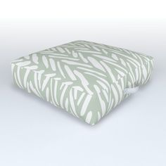 Light Green Herringbone Pattern With Cream Stripes Outdoor Floor Cushion by Allie - x x Outdoor Floor Cushions, Floor Pillows, Herringbone Pattern, Yard, Weather, Handle, Comfy, Flooring, Touch