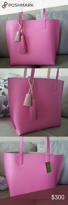 *LOWEST*New Kate Spade Tote w/Tassels *New with tags! *Very pretty! *Pretty Spacious- will update size. *OPEN TO ALL REASONABLE OFFERS kate spade Bags