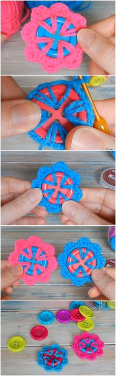 Learn To Crochet A Flower Button