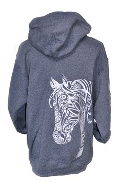 Premium Quality Horse Gifts for Women The BOHO Horse Hoodie by Live for the Ride apparel is VINTAGE SOFT 100% Cotton that comes to you PRE-SHRUNK and MACHINE WASHABLE *on cold. This Horse Shirt sports
