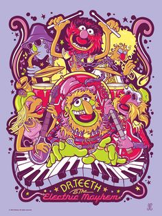 Doctor Teeth and The Electric Mayhem [Purple Haze Variant] by Jamie Carroll