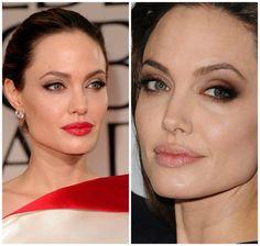 Angelina Jolie's makeup - montagem 1