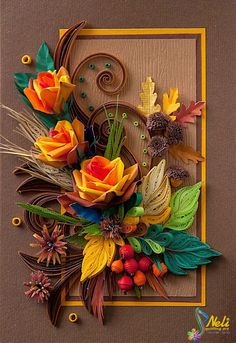 Image result for paper quilling wall decoration