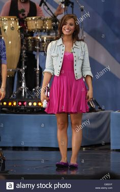 Demi Lovato on stage for Good Morning America GMA Concert Series with The Jonas Brothers, Rumsey Playfield in Central Park, New - C6531F from Alamy's library of millions of high resolution stock photos, illustrations and vectors.