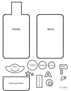 Capinha para celular em feltro passo a passo - Como Fazer Felt Crafts Patterns, Felt Crafts Diy, Felt Phone, Mobile Covers, Phone Cover, Pouch, Embroidery, Dolls, Sewing