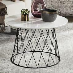 Safavieh Industrial Modern End Table, White