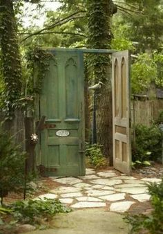 Create a secret garden by replacing your garden gate with ov.- Create a secret garden by replacing your garden gate with oversized doors!