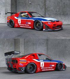 The new Rocket Bunny Classic Japanese Cars, Japanese Sports Cars, Tuner Cars, Jdm Cars, Le Mans, Godzilla, Nissan 180sx, Nissan Infiniti, Automobile