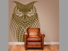 "Owl Bird Vinyl Wall Decal Home Decor 20x30"" on Etsy, $29.99"