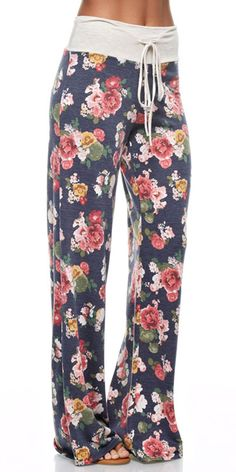 Floral Casual Lounge Pants