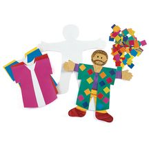 Joseph and his technicolour dreamcoat craft art activity for Bible school craft supplies
