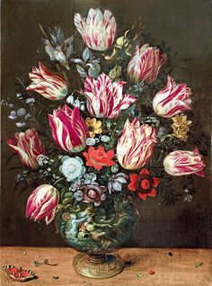 Vase with Tulips  | Andries Daniels and Frans Francken the Younger (1620-1625)