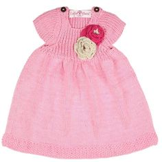 Pink Handmade Knit Dress from Freckles Children's Boutique for $58.00