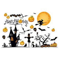 price error - Gigory Happy Halloween Wall Sticker 3D Pumpkin Art DIY Decal Home Decor Bedroom Halloween Eve Decor Window Decoration *** Check out the image by visiting the link. (This is an affiliate link) #WallStickersMurals