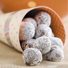 Gooseberry Patch Chocolate-Orange Snowballs Recipe -add some Gran Marnier Cookie Balls Recipe, Cookie Recipes, Dessert Recipes, Grandma's Recipes, Homemade Desserts, Easter Recipes, Polish Christmas, Christmas Baking, Christmas Cookies