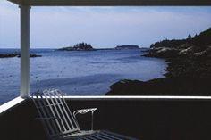 Robert Lerch, View from the Veranda, Christmas Cove, Maine (1985).