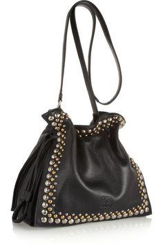 Loewe - 30 Studded Textured Bag