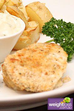 Parmesan Crumbed Fish. #HealthyRecipes #DietRecipes #WeightLossRecipes weightloss.com.au