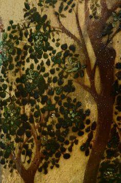 """GIOVANNI FRANCESCO DA RIMINI (Attribué),1440-50 - Vie de la Vierge, La Fuite en Egypte (Louvre) - Detail 37  -  TAGS / details détail détails painting paintings peintures """"peinture 15e"""" """"15th-century paintings"""" """"Moyen Âge"""" """"Middle age"""" Museum Paris France Italie Italy Italia Bible prière prayer Bless sacred holy blessed Virgin Jésus Jesus Enfant Child kid family famille """"St Joseph"""" """"da Rimini"""" trône throne âne donkey animal animals animaux basket panier voyage trip foliage feuillage nature"""