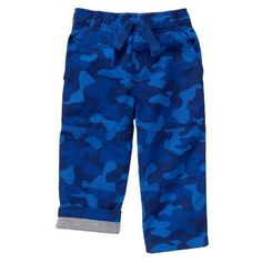 Toddler Boys Blue Camo The Gymster™ Pant by Gymboree