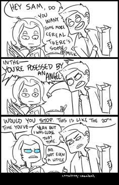 Dean trying to tell Sam that he's possessed by Gadreel (by consulting-cannibal)