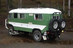 4x4 bus campers - But, it's not a pure skoolie. Rather a school bus body on a 4x4 Bedford truck chassis.    It's shown on Rob Gray's site under 'other worts'.