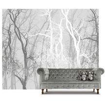 Wander Trees Charcoal | Wallpaper Mural