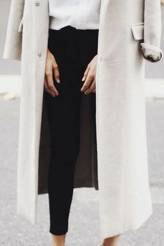 long coat, black jea