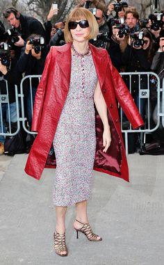 Anna Wintour: Stars at Paris Fashion Week Fall 2015